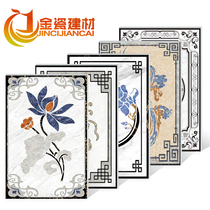 Custom Chinese European Parquet Tile Hotel lobby imitation water knife pattern floor tile living room Xuan Guan into the flower