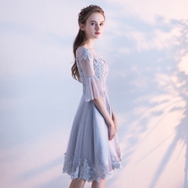 Maid of Honor dress 2018 new Summer sister group small dress dresses female fashion banquet chair evening Dress
