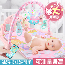 Baby fitness rack pedal piano baby boy bed bell foot toy foot to step on eight months to coax the artifact