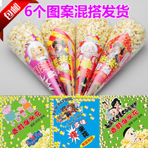Popcorn bag popcorn triangle bag small packaging magpie outer bag 400 sets of ordered