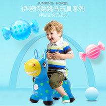 Einot enfants gonflable jouets saut voûte musique à augmenter épais bébé cheval poney jouet en bois cheval gomme