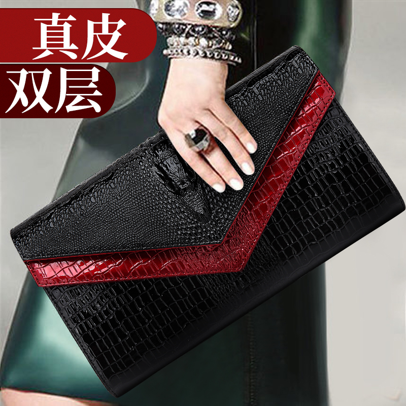 Genuine Leather Ladies hold ladies'bags. New large-capacity envelopes, handbags, ladies' fashion bags, inclined bags