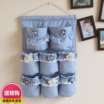 Recreation House Princess lace cartoon storage bag bag cloth hanging bag clutter bag storage bag fabric multi-layer