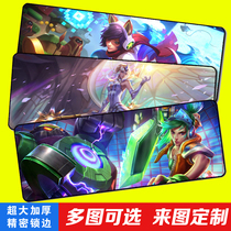 Game Rat Pad Super Hero League LOL Tablemat Thickened Sports Lock Pad Keyboard Pad Cute Customization