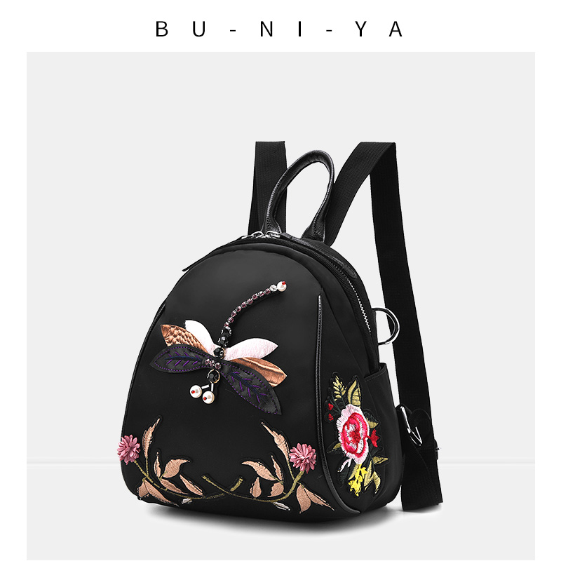 Backpack female 2018 new wave Korean fashion wild personality Oxford cloth ladies mini backpack female bag