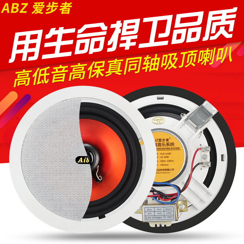 AIBUZ yld-806 Ceiling Speaker Ceiling Ceiling Sound Wall Speaker Broadcast Background Music Set