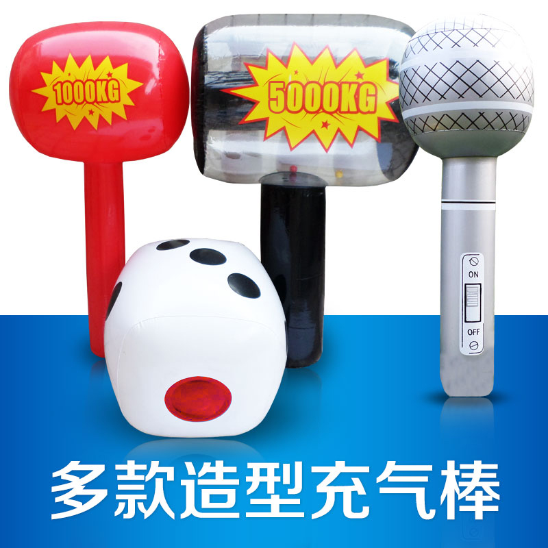 Xibao inflatable large color dice microphone crown 500KG2000KG air hammer inflatable props