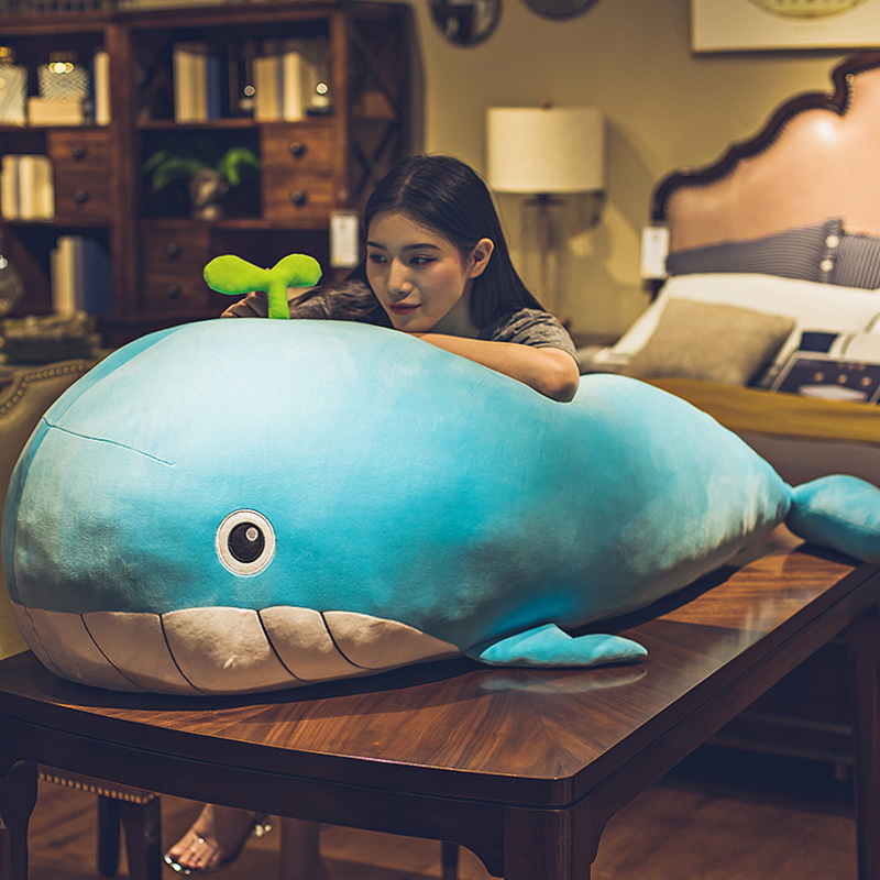 Cute whale plush toy ins net red super soft pillow sleeping with you doll doll on the big bed