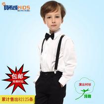 春秋男童儿童学生白色演出服