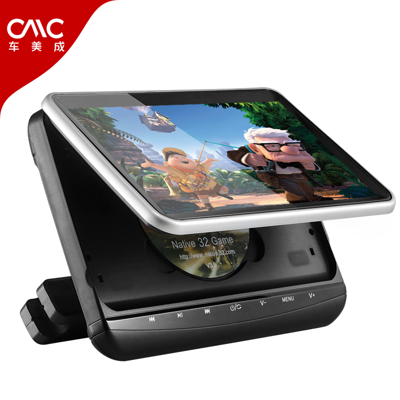 Touch button car headrest DVD display 10 inch car rear row video entertainment player support IRFM