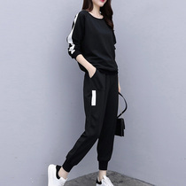 Plus size womens fat sister two sets of 2020 new autumn autumn age significantly thin foreign spring fat mm fashionable