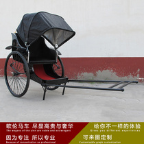 Popular Retro manpower Rickshaw Pavilion display antique rickshaw Scenic Area hotel reception antique Rickshaw