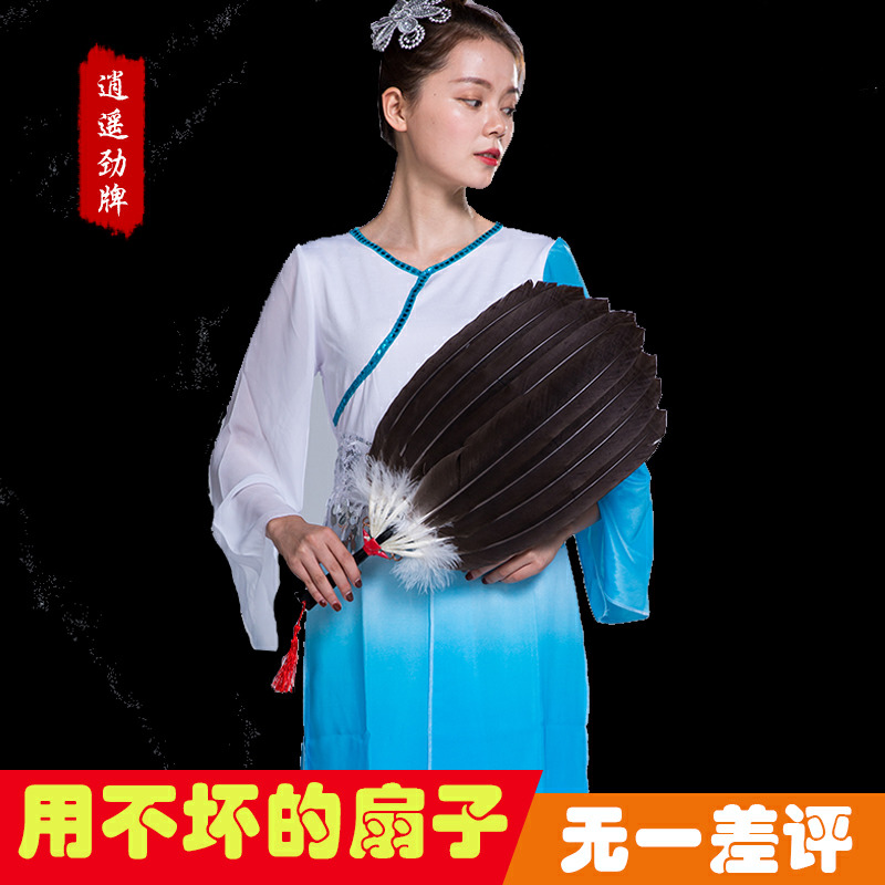 Feather Fan Zhuge Liang Peacock Fan Dance Children Pu Fan Summer Baby Fan Large Kongming Fan Goose Hair Fan