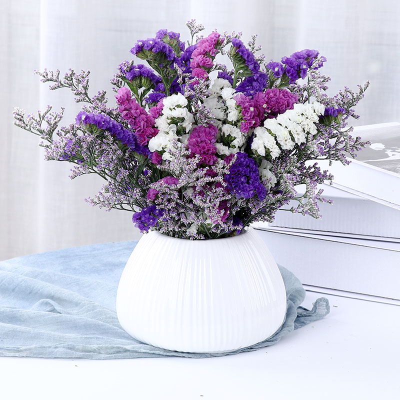 Yunnan dry flowers mixed bouquet with vase living room furnishings household decoration small fresh flower arrangement all over the sky