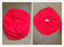 Store manager recommend cotton red cloth sand bag instead of jars sealed lid cloth bag closure does not provide sand