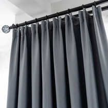 Flow rhyme 100%full blackout curtains Nordic 2019 new soundproof living room shade cloth bedroom sunscreen modern minimalist