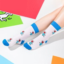 NOME X Keith Haring joint models stockings autumn and winter fashion trend warm cotton high-quality socks