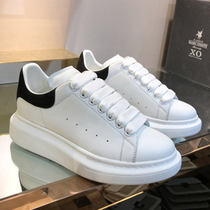 2020 new high version of McQueen small white shoes women autumn leather McQueen within increased burst of lovers shoes McQueen