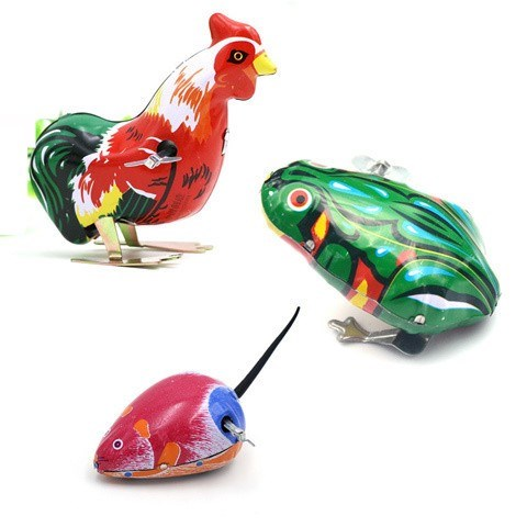 Small Boy Tin Frog Winding Toy Small Frog Nostalgia Classic Jump Frog Children's Mechanical Combination will Runbao