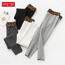 Стрейч нить девушки леггинсы весна и осень внешний вид носить хлопок маленькие и большие детские брюки детские брюки осень