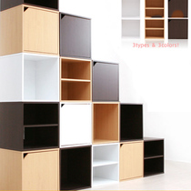 Small cabinet free combination of grid cabinet simple bookcase bookshelf locker storage cabinet to collect wooden glass door home