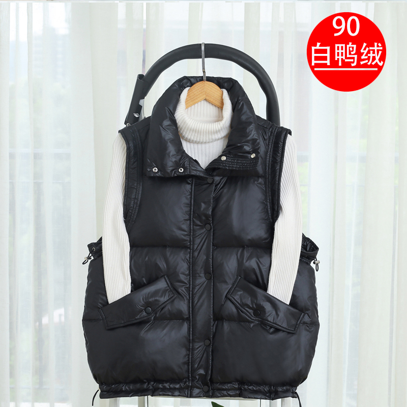 Down horse armor women autumn and winter wear a new loose 90 white duck down hundred with the Korean version of the vest large size horse clip European state station