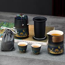 Portable travel tea set Portable bag Portable outdoor tea pot Quick cup one pot two three four cups customized