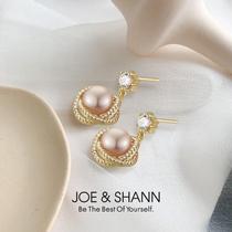 Natural pearl earring earrings in 2021 new fashion high sense temperament French retro earrings pendant earrings female summer