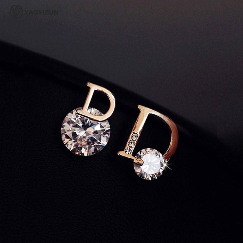 Korean letter earrings simple female compact 925 pure silver premium earrings 2020 new trendy temperament net red