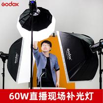 神牛SL60W摄影灯淘宝直播间补光灯LED常亮主播美颜拍照打光灯室内sl150w二代