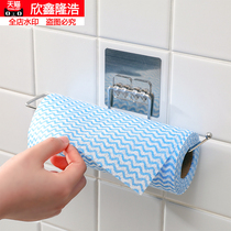 Stainless steel kitchen paper towel rack without punch wall hanging kitchen with paper rack rack storage rack roll paper rack