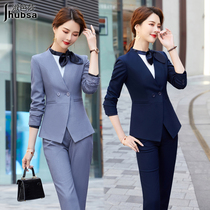 Autumn and winter professional suit suit set female hotel front desk manager overalls jewelry store sales department flight attendant high-end uniforms