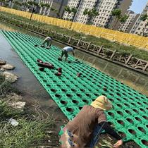 Lotus pond lotus pond water production floating floating cultivation water. . Pots and plants. Plant pontoons