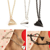Fashion Alloy 1D Paper Plane Airplane Design Necklace Gift F