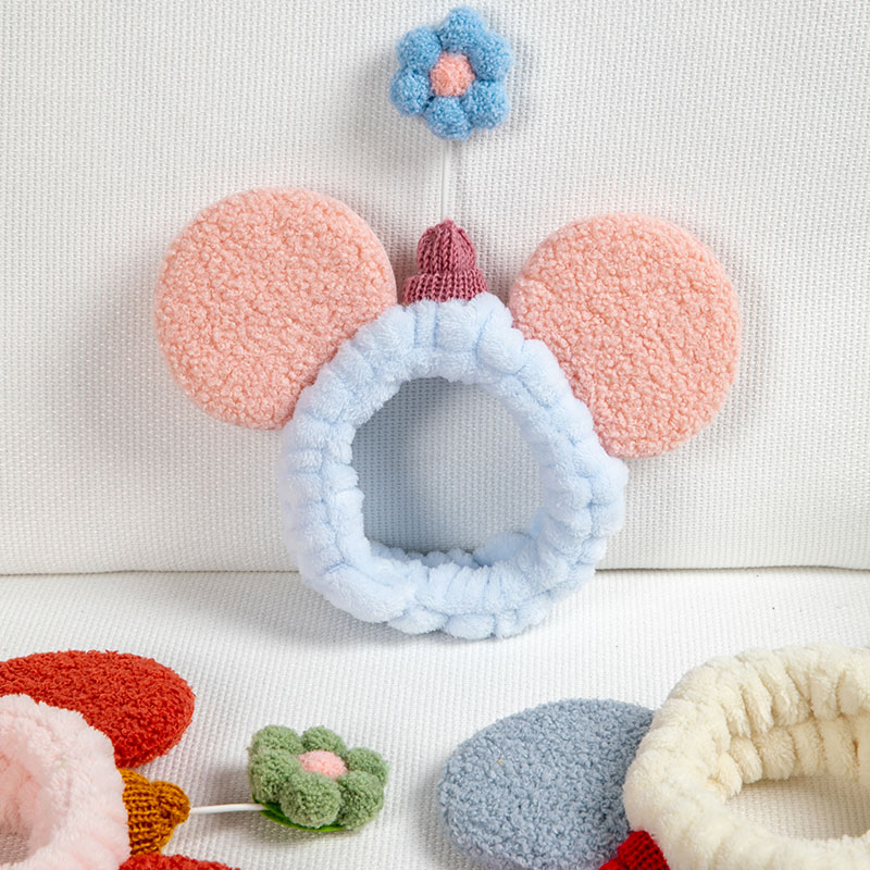 Ins Korean wash face mask 髮 with cute net red 髮 girl make-up髮 hoop head 髮 and headdress