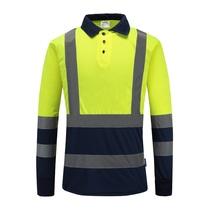 反光T恤衫长袖道路工作男女管理人员吸湿排汗反光衣交通安全服