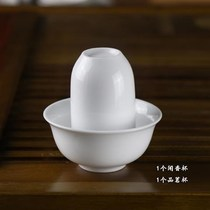 Special high-priced high-white ceramic Dehua white porcelain smelling cup cup tasting pattern combination no left fragrance tea