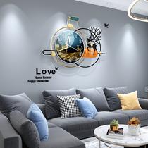 Watch household living room creative modern simple wall clock Net red fashion light luxury hanging living room decorative wall clock