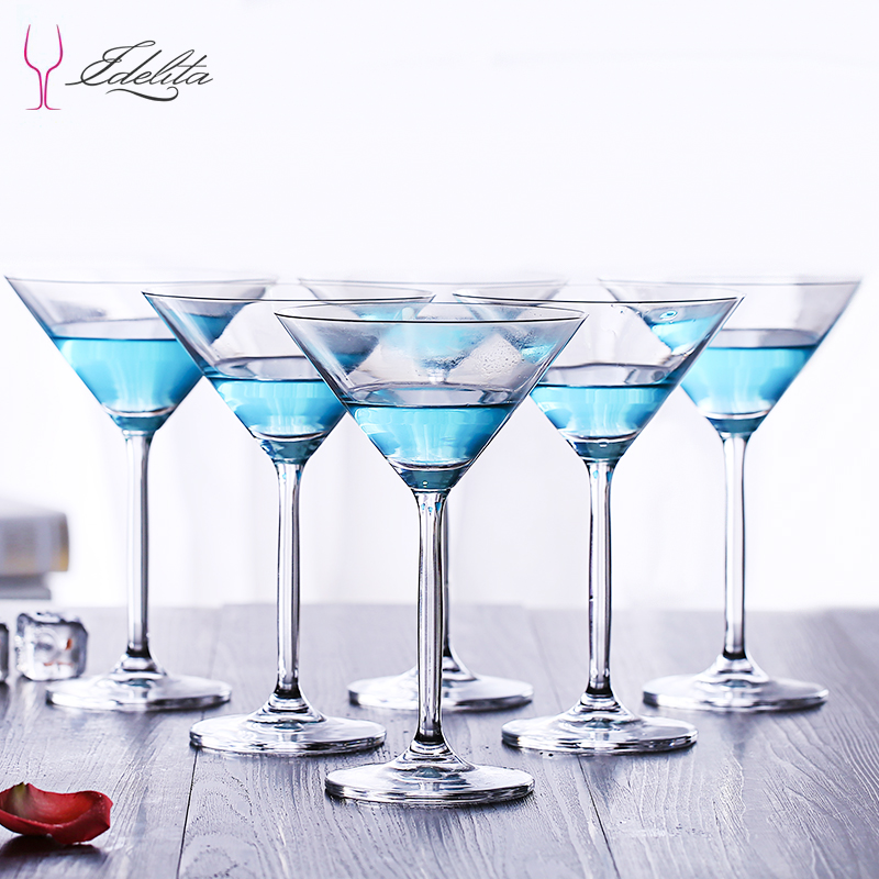 Idrita unleaded glass cocktail cup juice cup Martini cup triangle champagne cup goblet