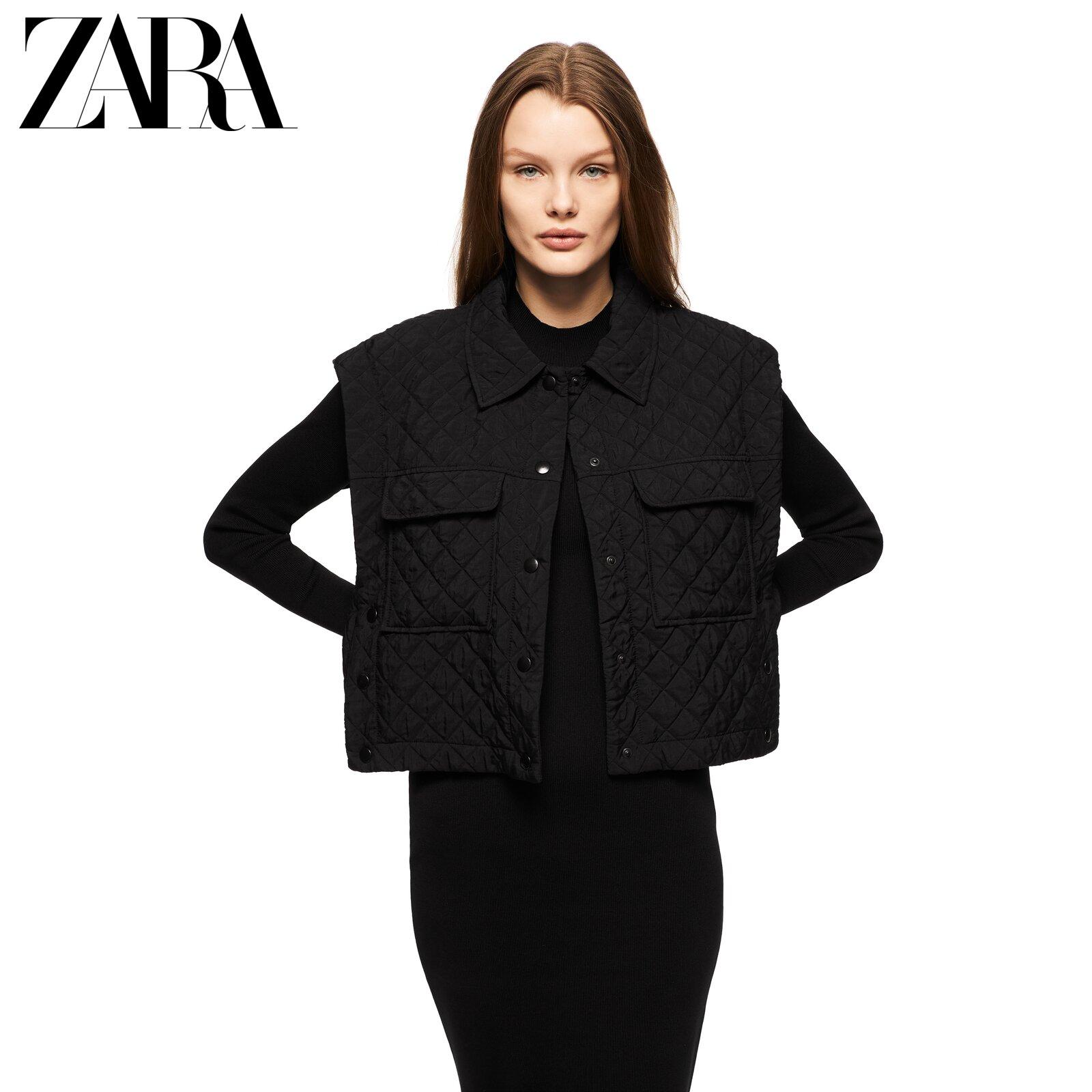 ZARA new womens quilted short vest 04886048800