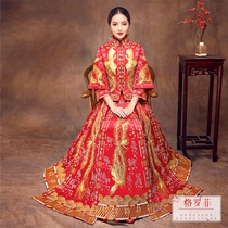 2018 New Xiu-Wo-yi bride wedding dress Chinese style self-cultivation toast to the dragon gown Xiu kimono Fengong