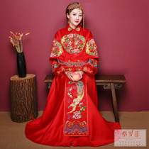 2018 New Xiu-wo dress bridal gown wedding dresses Chinese-style dress and dragon gown married toast and clothes