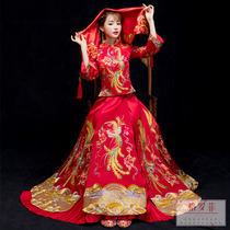 Vibrato with the same paragraph marry bride wedding Chinese dress costume costumes 2018 New clothes and costumes