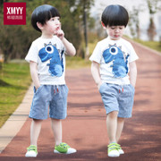 Kids Boys summer 2017 new suit 1 children 3 children 6 years old clothes in summer 5 Baby Short suit