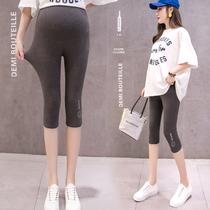 По беременности и родам леггинсы летом тонкие укороченные брюки хлопок материнства брюки носить вне моды поддержки живота шорты безопасности брюки