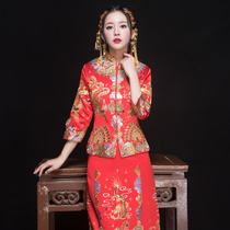 Winter Chinese vintage embroidery wedding dress