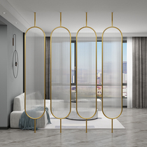 Lilita Nordic light luxury glass screen partition can be rotated tempered long rainbow glass simple modern living room cover