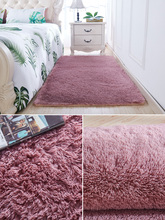 Living room carpet bedroom bedside blanket lovely mattress tatatami plus thick velvet ins wind net red Full-Bed room