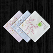 Japanese female embroidered cotton gauze handkerchief sweat handkerchief Embroidered Cotton Single Female Double thick section bell orchid