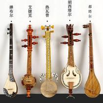 Xinjiang tourisme commémoration Ouïghour main native ethnique instrument de musique 5-pièce bombe burjewap et ainsi de suite